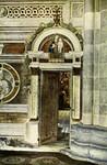Certosa di Pavia – Porta alla cappelle di destra frescata dal Bergognone