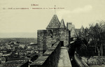 Carcassonne - Perspective de la Tour de l'Evêque