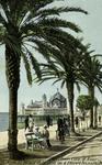 Nice - Le Palais de la Jetée vu à travers les palmier