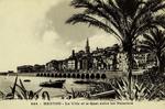 Menton - La Ville et le Quai entre les Palmiers