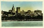Avignon - Vue générale du Palais des Papes