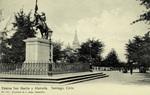 Chile - Santiago - Estatua San Martín y Alameda