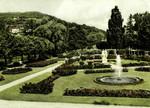 Bad Kissingen – Rosengarten mit Blick zum Jagdhaus