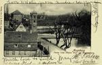 Augsburg – Partie beim Oblater Wall mit Wasserthurm