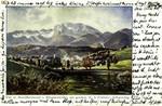 Bad Tölz – mit Benediktenwald von Klammerweiher aus gesehen