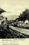 Benediktbeuern – Dorfstrasse mit Benediktenwand