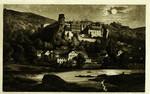 Germany – Heidelberg – Das Schloss von der Hirschgasse gesehen