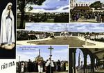 Portugal - Fátima - Panorama - Capelinha das Aparições - Santuário - Procissão com a Imagem de Nossa Senhora - Arcadas