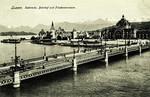 Luzern - Seebrücke, Bahnhof und Friendensmuseum