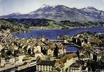 Luzern - Luzern und Rigi, vom Gütsch aus gesehen