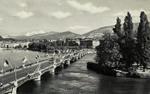 Geneva - Le pont du Mont-Blanc et le Mont-Blanc (4810 m.)