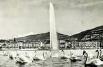 Geneva -  Le jet d'eau et le Mont-Blanc