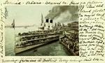 United States – Michigan – Detroit – Steamer Tashmoo leaving Detroit for a River Trip