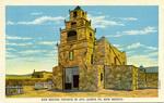 New Mexico – San Miguel Church in 1872, Santa Fe