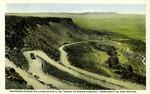 """New Mexico – Automobile Road on La Bajada Hill on """"Ocean to Ocean Highway."""" near Santa Fe"""