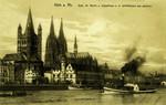 Cologne – Dom, St. Martin u. Stapelhaus v. d. Schiffbrücke aus gesehen