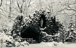 Convent of the Sacred Heart - Lake Forest, Illinois - View of the Grotto in Winter