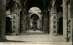 Roma - Chiesa di S. Pietro in Vaticano - L'interno, la navata maggiore