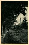 Giardini – Grotta di Lourdes dal viale degli ulivi.