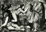 Città del Vaticano Cappella Sistina - Creazione della Donna (Michelangelo)