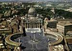 Roma Piazza S. Pietro - Veduta aerea